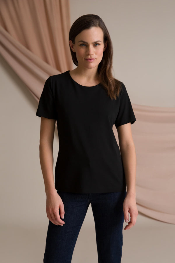 Kendall short sleeve top black