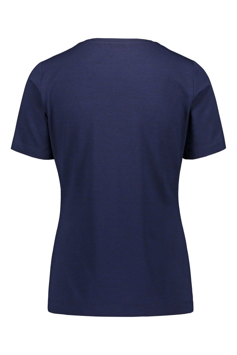KENDALL Short Sleeve Top navy back