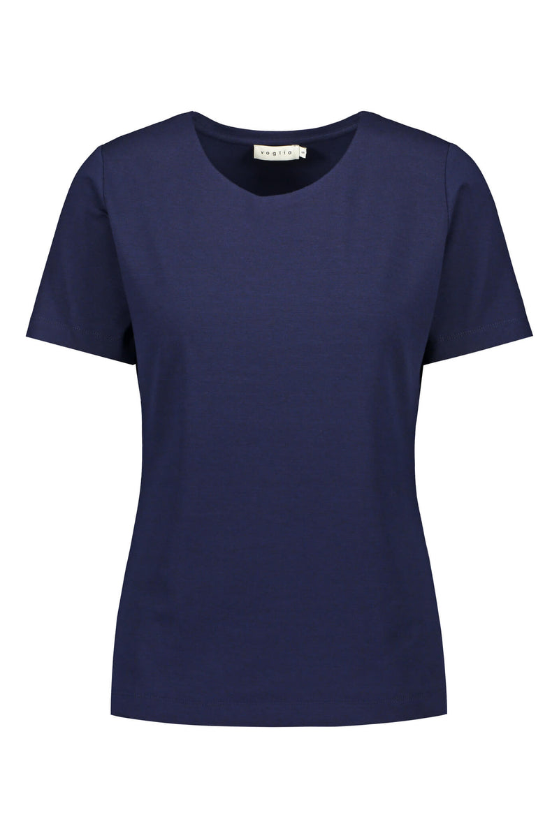 KENDALL Short Sleeve Top navy front