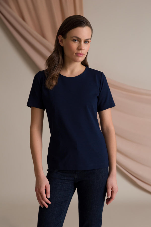 Kendall short sleeve top navy