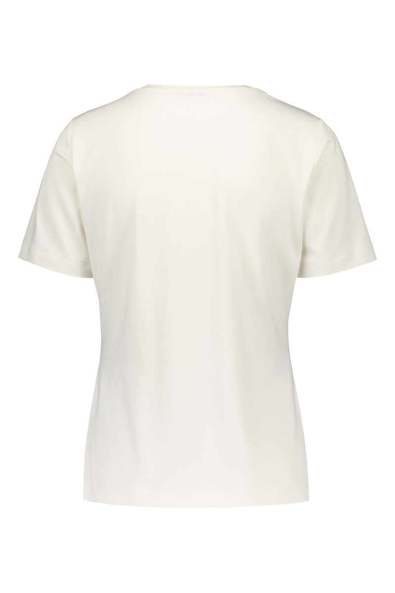 KENDALL Short Sleeve Top white back