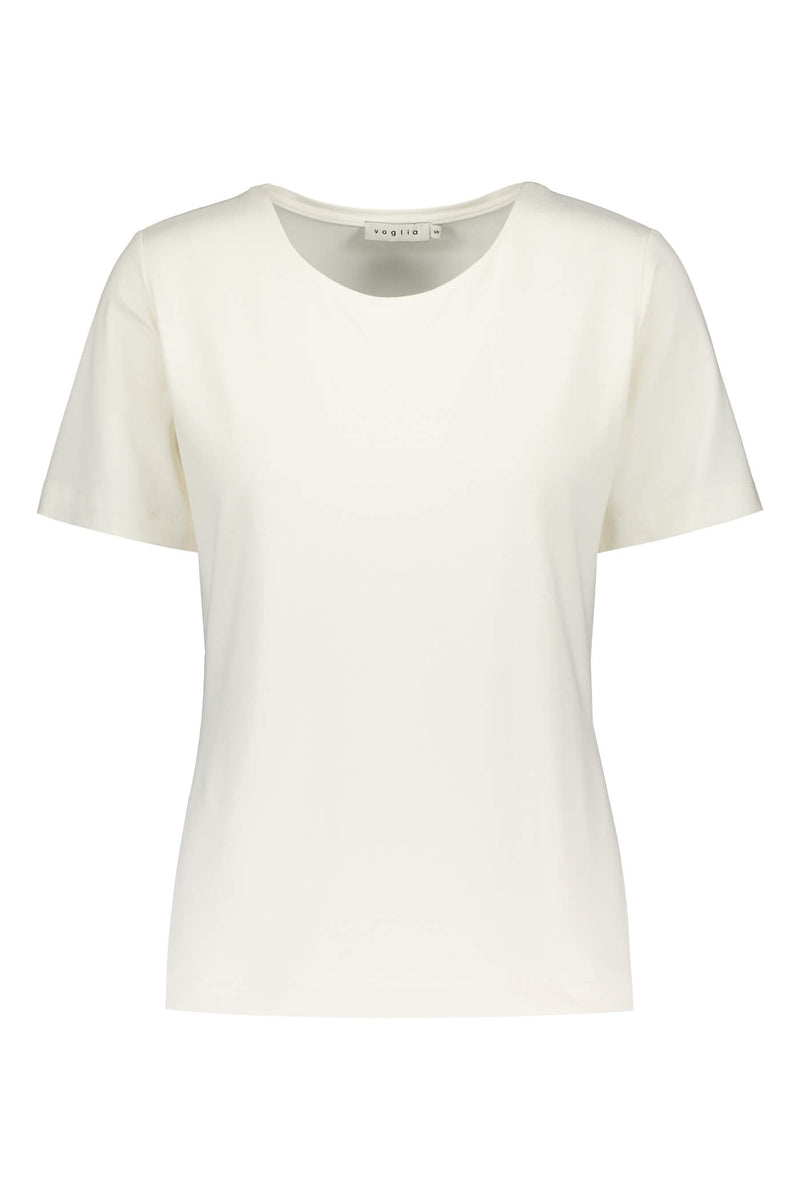 KENDALL Short Sleeve Top white front