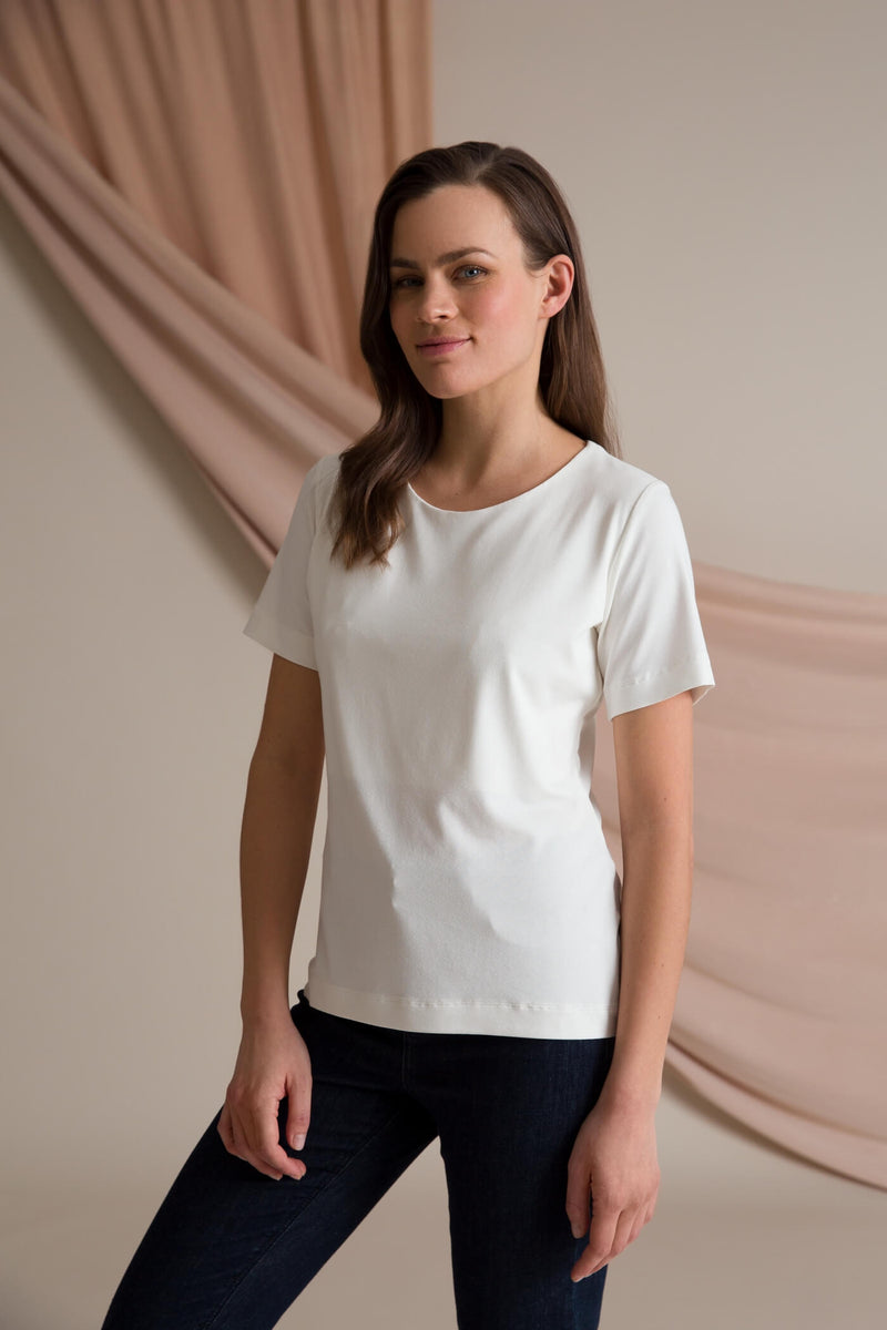Kendall short sleeve top white