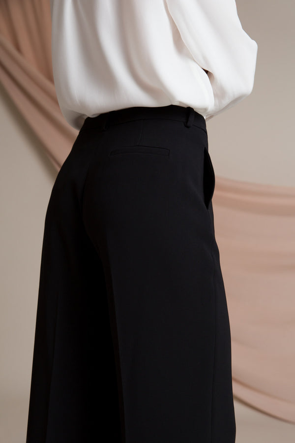 Kimber wide leg trousers black behind