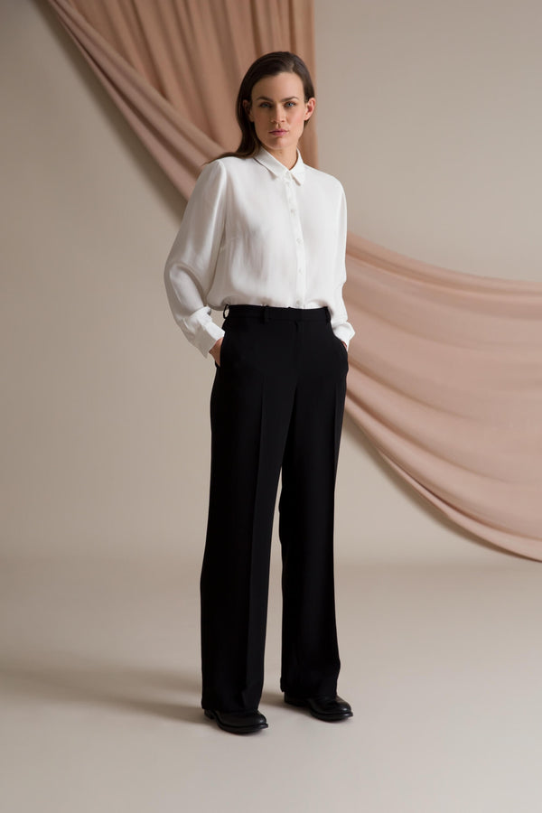 Kimber wide leg trousers black