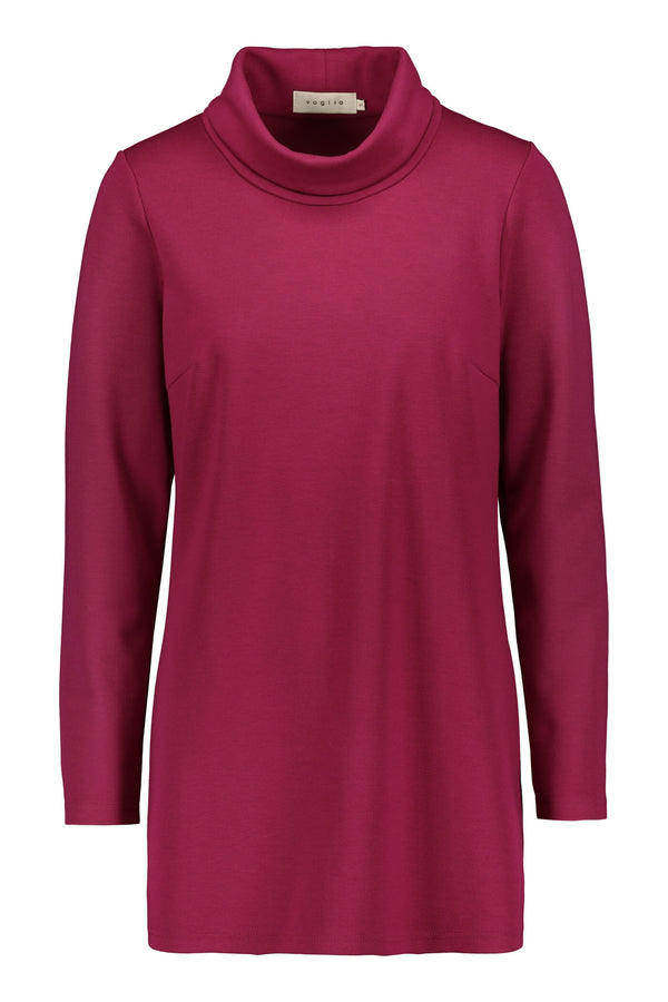LENA High Neck Top fuchsia front