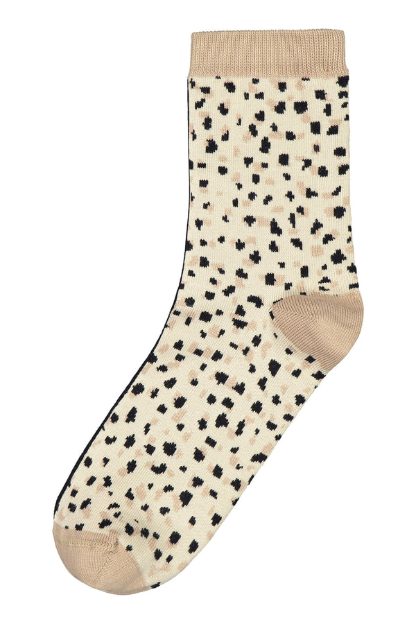 MIKAELA Patterned Socks black-beige flat