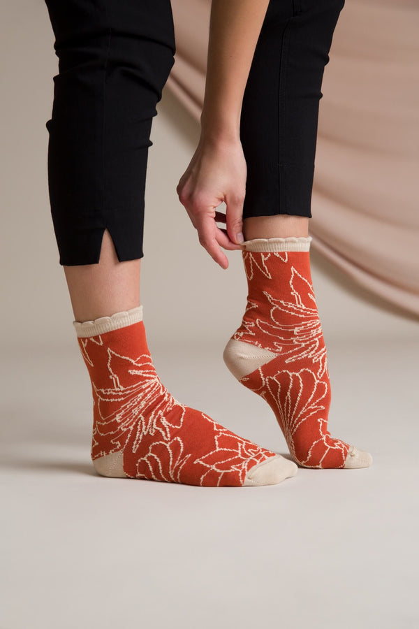 MIRIAM Patterned Socks terra