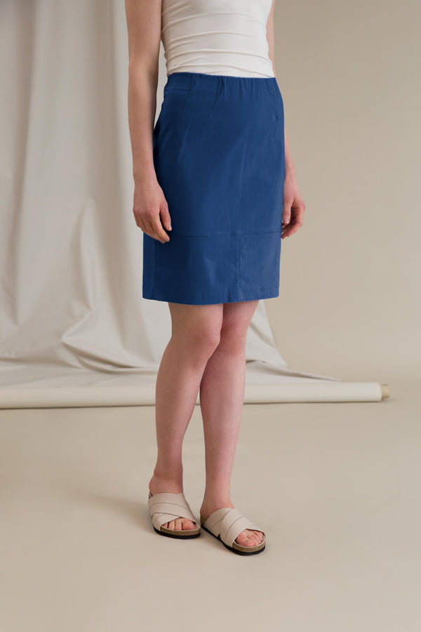 SAMANTHA Stretchy Skirt smokey blue