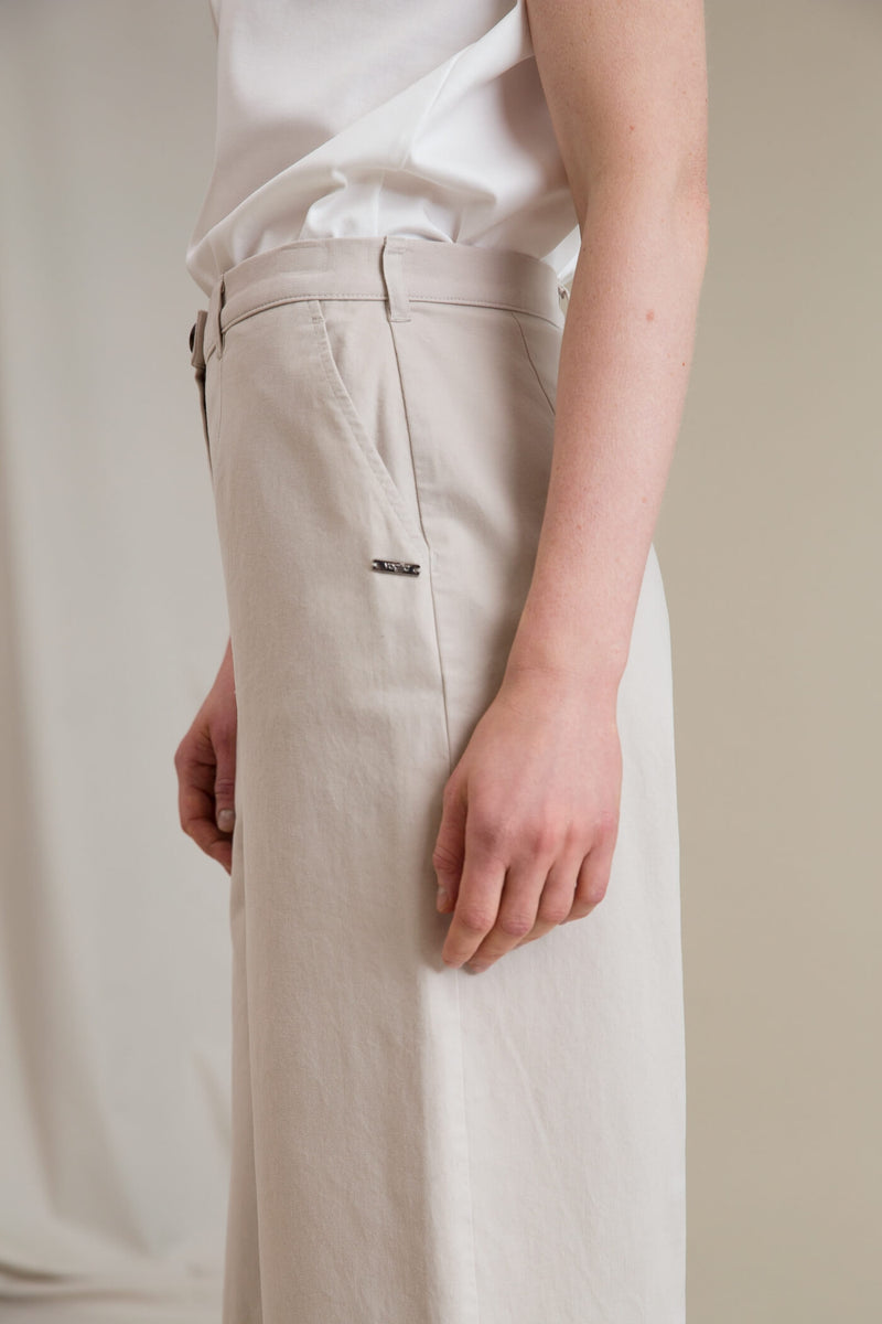 SCARLETT Cotton Culottes beige side