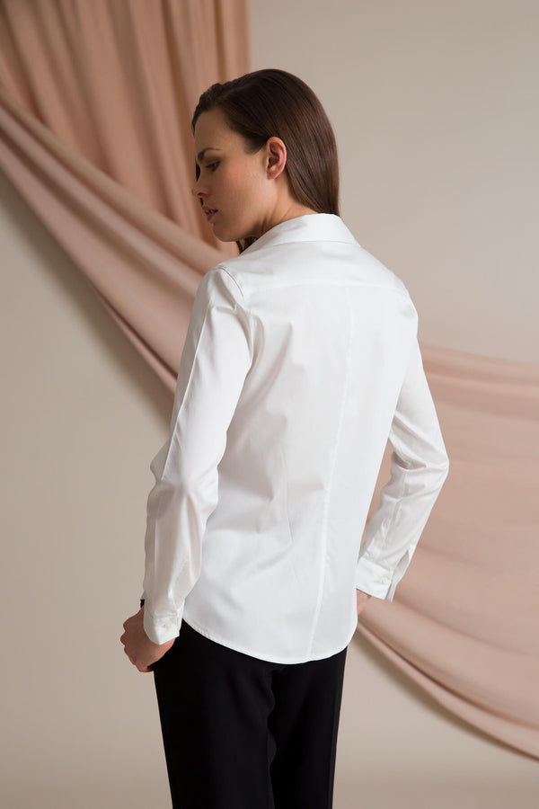 Slim fit shirt soft white behind