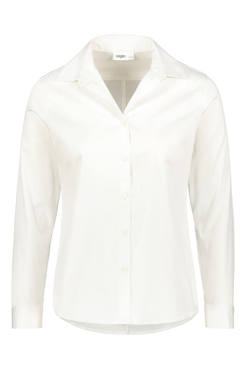Slim fit shirt soft white front