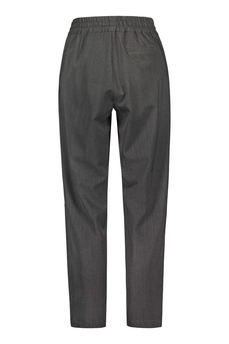SYLVIE Wool Blend Trousers dark grey back