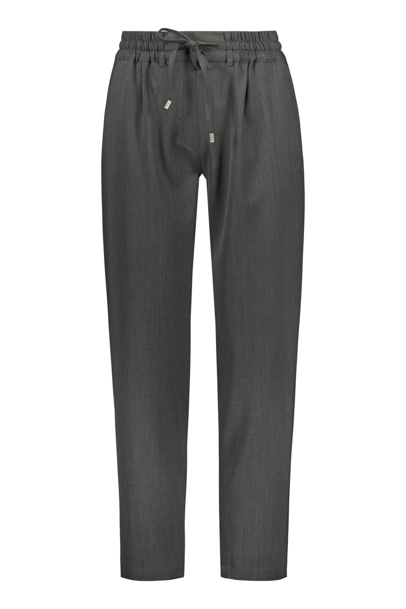 SYLVIE Wool Blend Trousers dark grey front