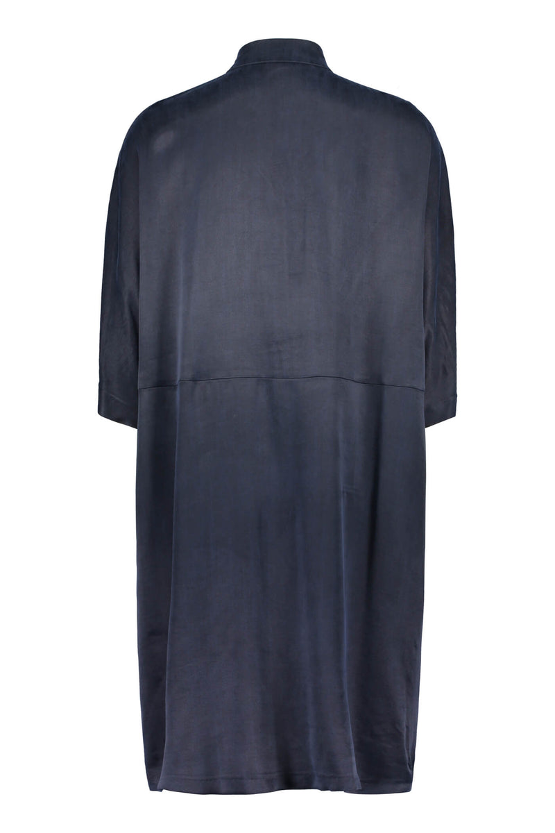Voglia Alaia shirt dress blue back