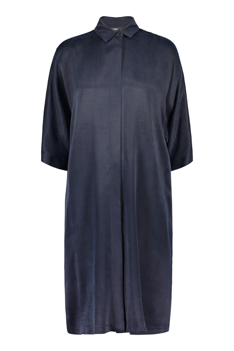 Voglia Alaia shirt dress blue front