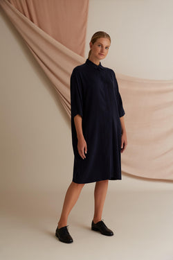 Voglia Alaia shirt dress blue