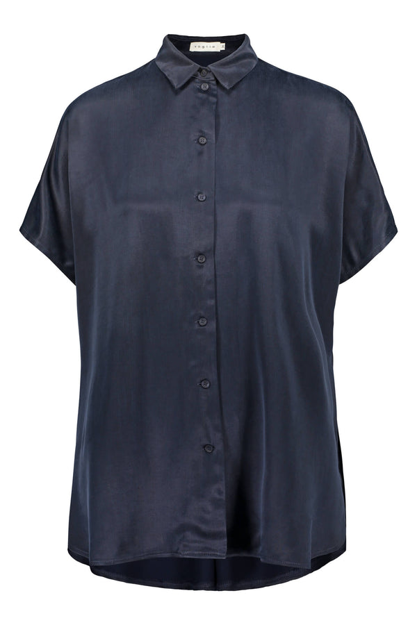 Voglia Anna loose fit shirt blue front