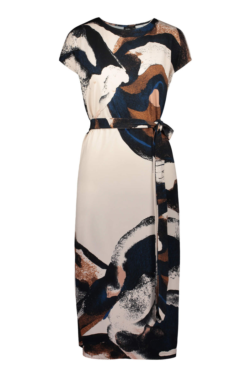 Voglia Annie printed jersey dress blush front