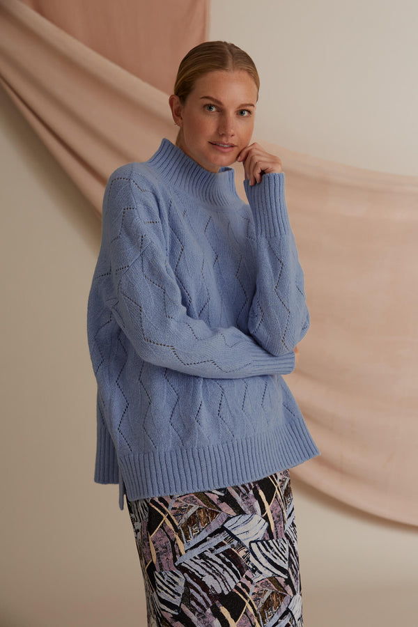 Voglia Caia wool jumper light blue