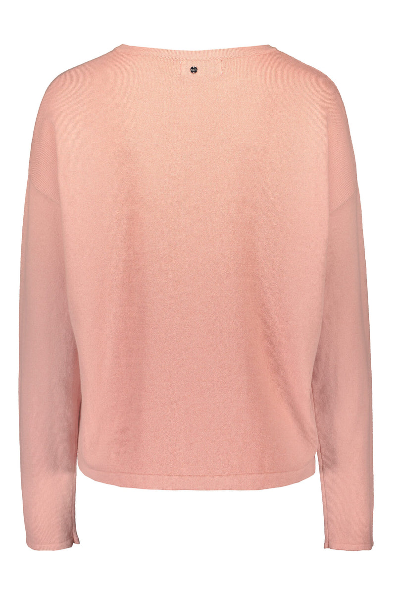 Voglia Clear Cotton Cashmere Jumper blush back