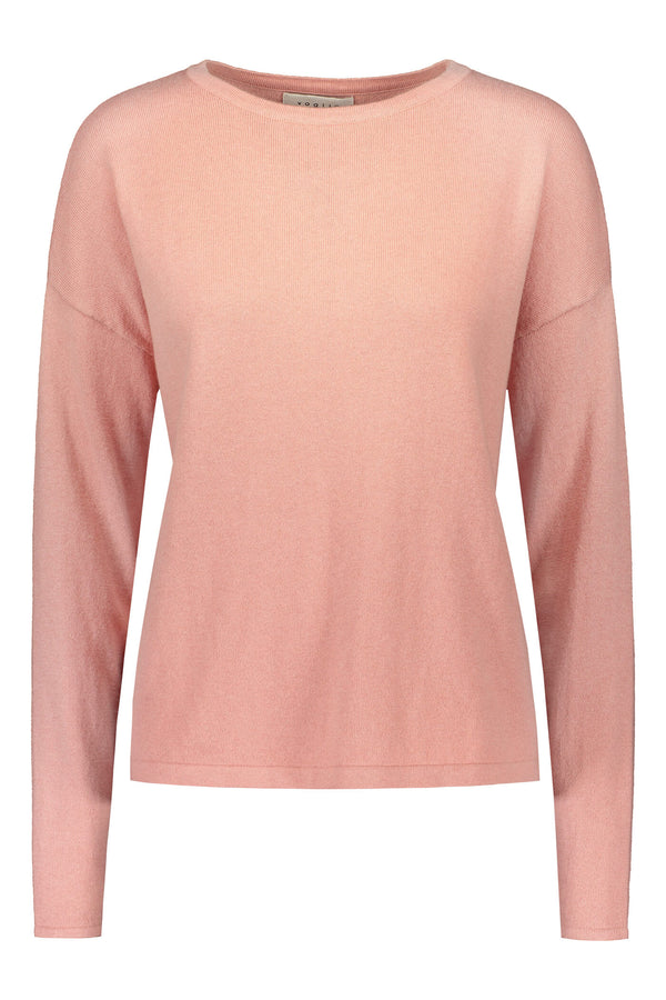 Voglia Clear Cotton Cashmere Jumper blush front