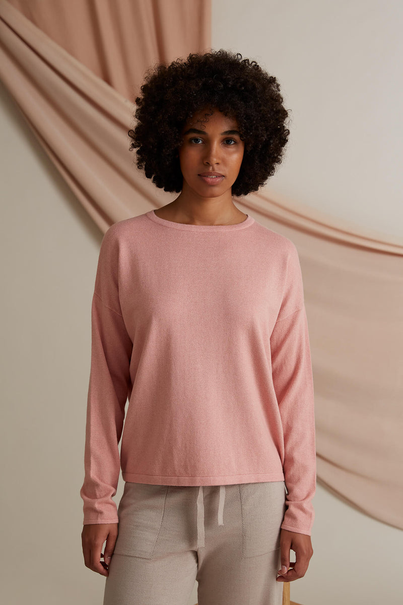 Voglia Clear Cotton Cashmere Jumper blush