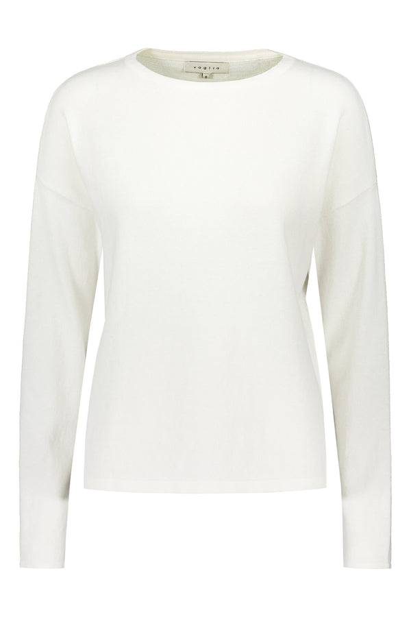 Voglia Clear Cotton Cashmere Jumper soft white front