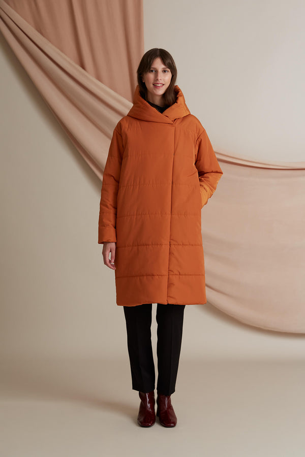 Voglia Concert water repellent puffer coat terra