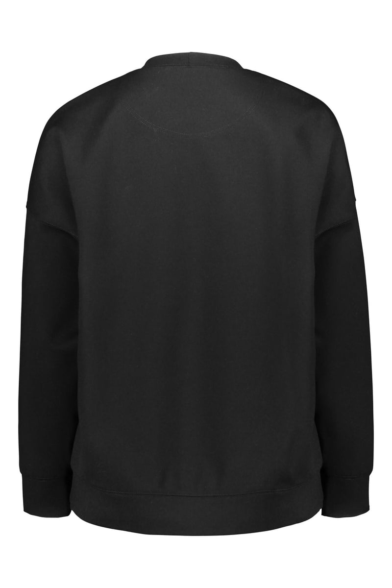 Voglia Dixie relaxed sweater blackest back