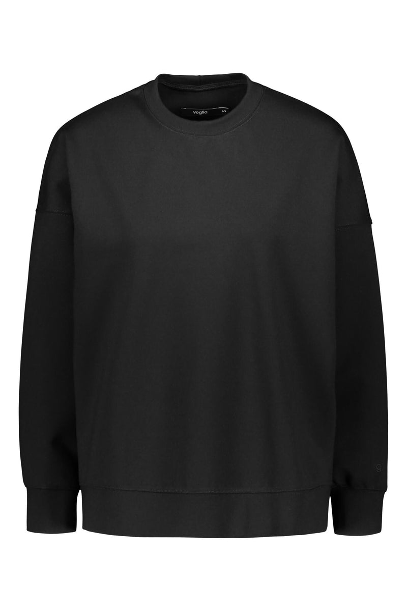 Voglia Dixie relaxed sweater blackest front