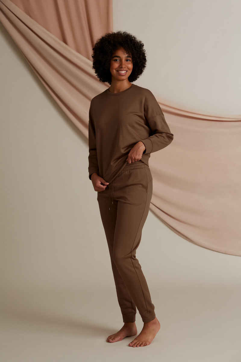 Voglia Dixie relaxed sweater chestnut front