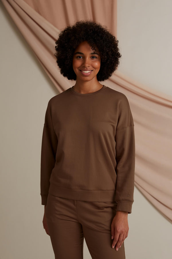 Voglia Dixie relaxed sweater chestnut