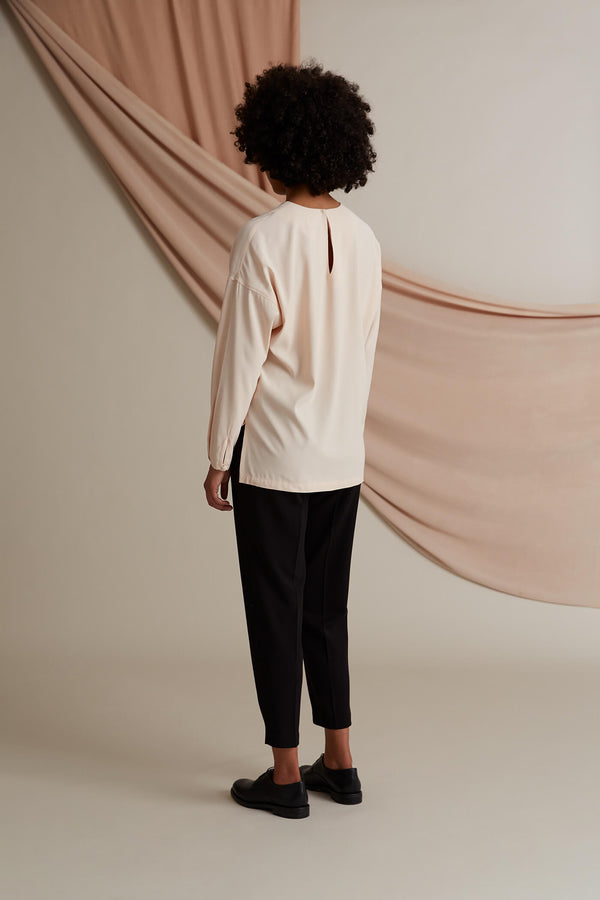 Voglia Elise viscose blouse shell behind
