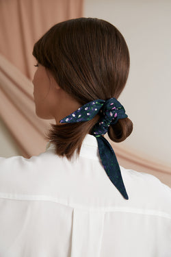 Voglia Emi small hair scrunchie printed