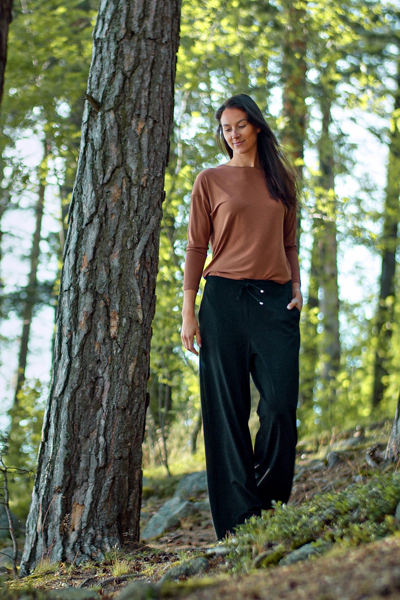 Voglia Finland Ada brown tricot top