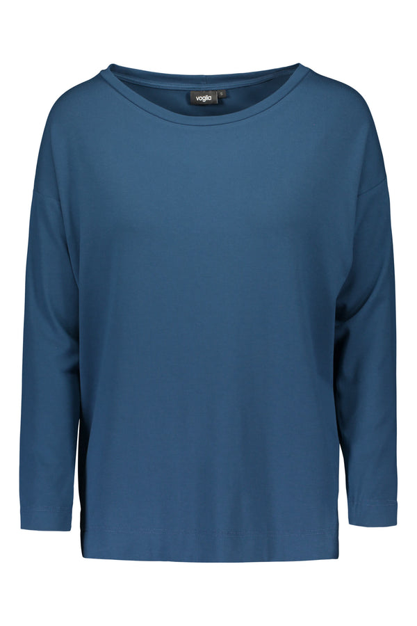 Voglia Finland Ada deep teal tricot top front