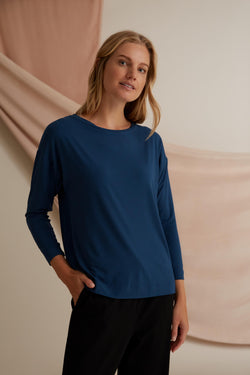 Voglia Finland Ada Tricot Top in Deep Teal