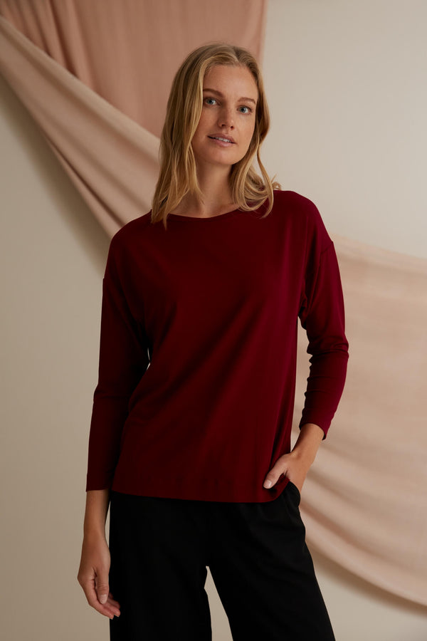 Voglia Finland Ada Tricot Top in Red