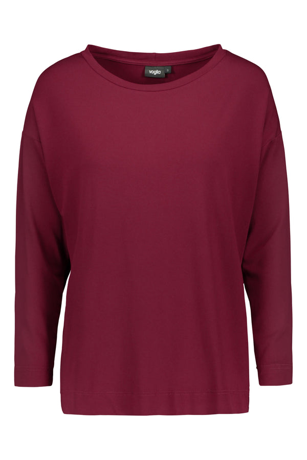 Voglia Finland Ada wine red tricot top front