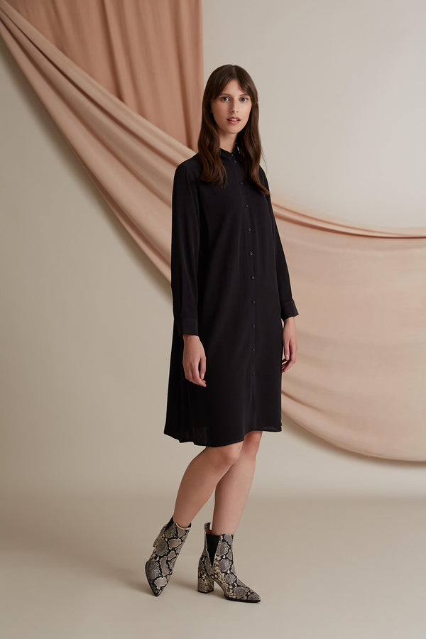 Voglia Finland Astrid shirt dress blackest