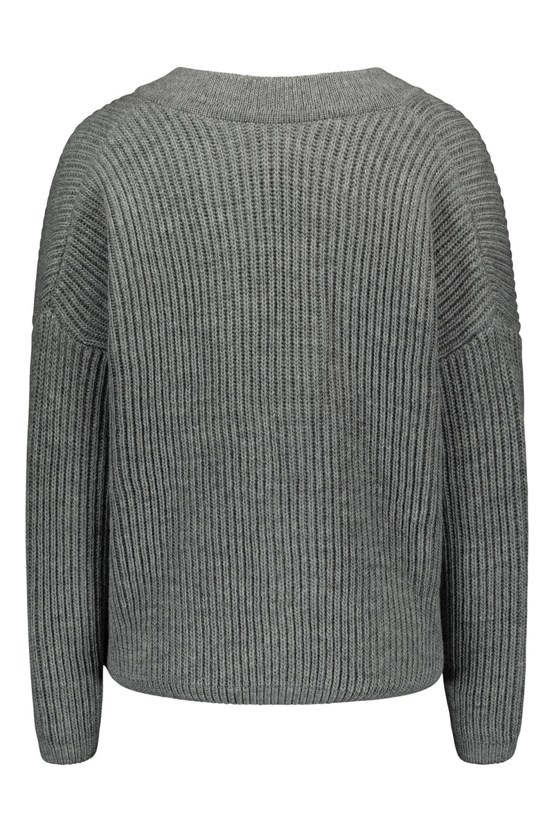 Voglia Finland Camilla wool cardigan grey back