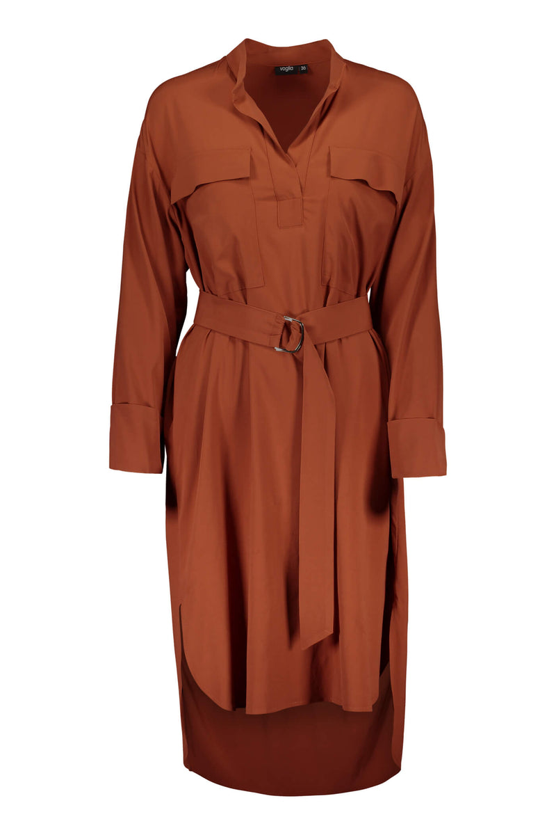 Voglia Finland Celina terra shirt dress front