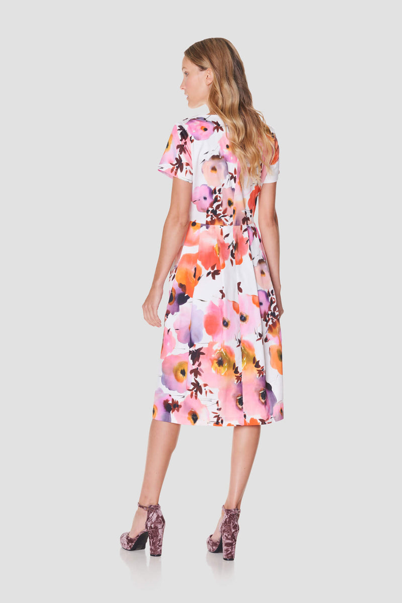 Voglia Finland cotton dress floral pattern