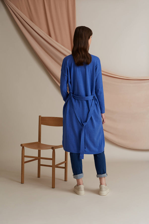 Voglia Finland Ibiza Blue Long Cardigan back