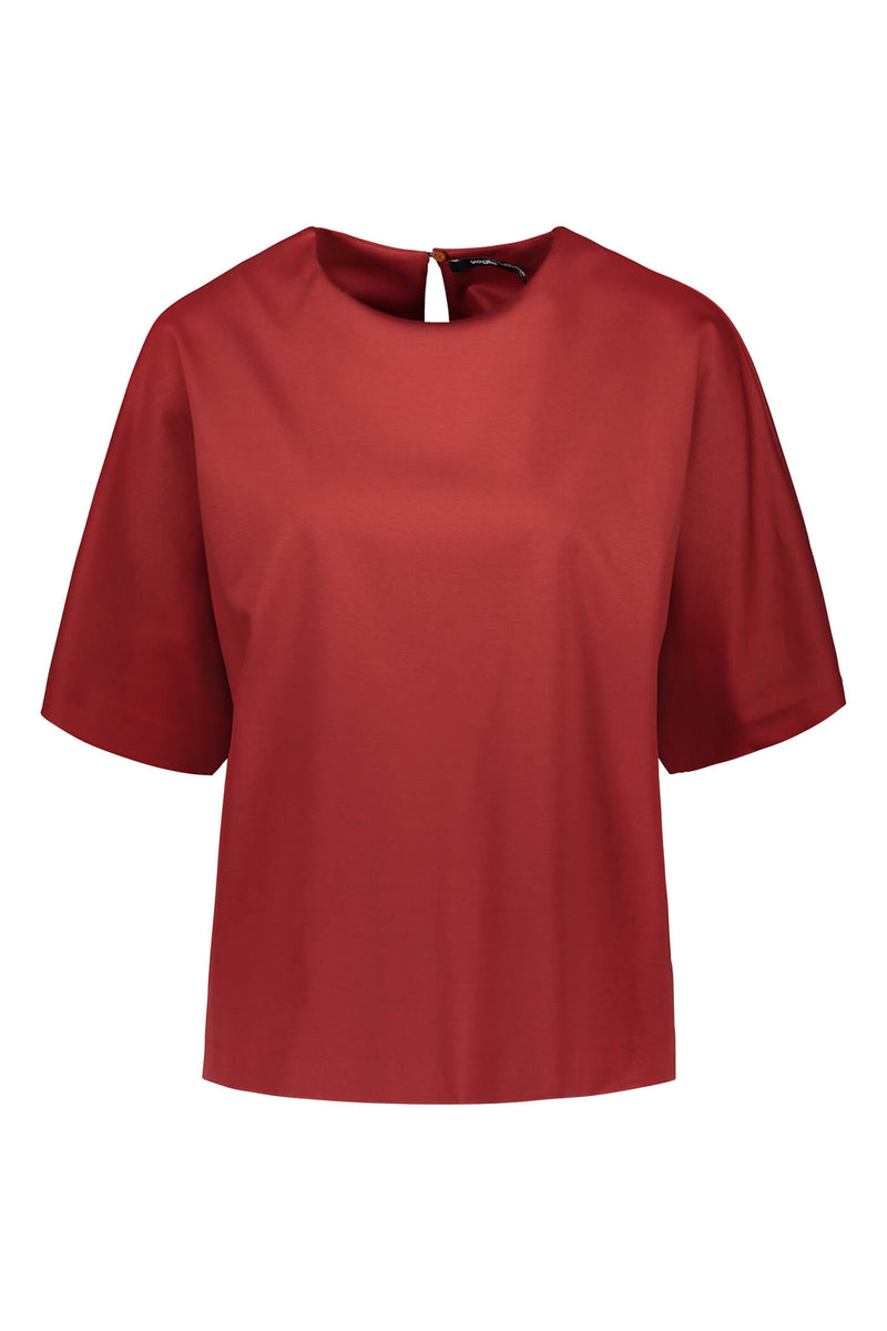 Voglia Finland Jessica rosewood red loose fit top front