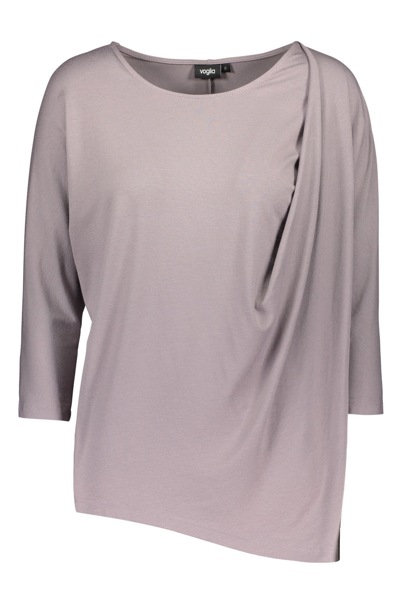 Voglia Finland light brown batwing top front