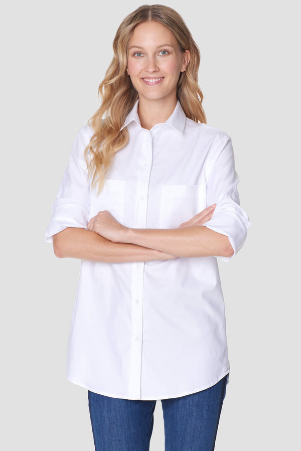 Voglia Finland women's white shirt cotton