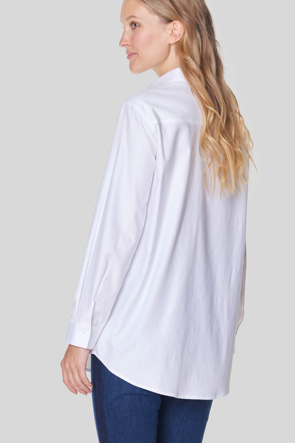 Voglia Finland women's white collar shirt cotton