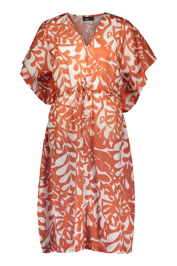 Voglia Finland women's orange light cotton dress